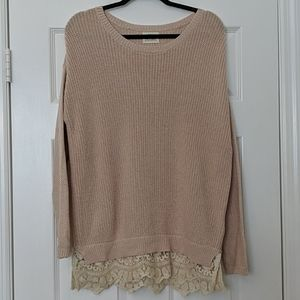 Urban Outfitters PINS AND NEEDLES Lace Hem Sweater